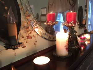 candles provide a warm, comfortable atmosphere